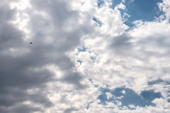 Beautiful dark summer clouds at afternoon Royalty Free Stock Image