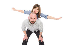 Beautiful daughter with her father Royalty Free Stock Photos