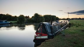 Beautiful dawn landscape image of River Thames at Lechlade-on-Th. Beautiful sunrise landscape image of River Thames at Lechlade-on-Thames in English Cotswolds Royalty Free Stock Image