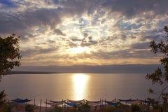 Beautiful dawn over the Dead Sea, Israel Stock Photos