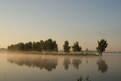 Beautiful dawn over lake. Very beautiful dawn over lake Royalty Free Stock Photos