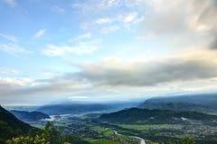 Beautiful dawn from Sarangkot mount Stock Image