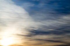 Beautiful dawn sun in the sky Stock Photo