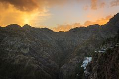 A beautiful dawn at Vaishno Devi. Temple, Katra, Jammu and Kashmir Stock Images