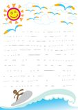 Beautiful day on beach paper note Royalty Free Stock Photography