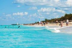 Beautiful day at the beach of Varadero in Cuba Stock Photography