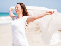 Beautiful day on the beach Stock Photography