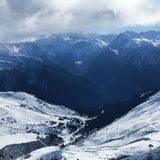 Beautiful day in the French alps Royalty Free Stock Images
