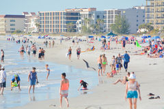 A beautiful day at Madeira Beach on the Gulf of Mexico, Florida royalty free stock image