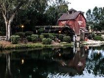 Harpers Mill at Disney World, Orlando, FL. A beautiful day at the Magic Kingdom, looking at Tom Sawyer Island Stock Photo