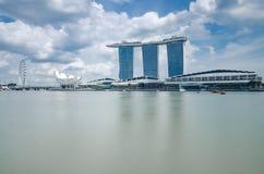 A beautiful day at Marina Bay royalty free stock images