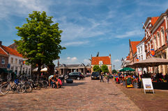 Beautiful Day in Medieval Dutch Town Heusden stock photography