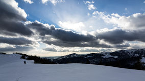 Beautiful day on the mountain Stock Photography