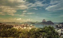 Beautiful day panorama of Rio de Janeiro Stock Photo