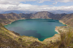 View Of The Quilotoa Lake, Ecuador Stock Photography