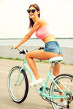 Beautiful day to ride bicycle! Stock Photo