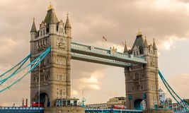 Beautiful day to see the Tower Bridge in London, England, Europe. stock photography