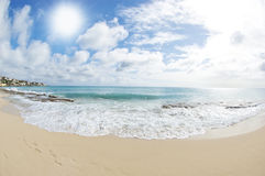 Beautiful Day on a Tropical Beach Royalty Free Stock Photography