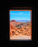 Valley of Fire, View from old Ranger Cottage Stock Photo