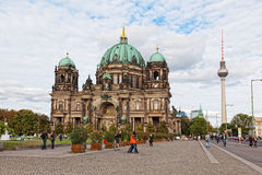 Beautiful day view of Berlin Cathedral Stock Image