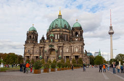 Beautiful day view of Berlin Cathedral Royalty Free Stock Photography