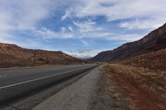 Beautiful day on the way to arches national park Stock Photo