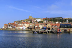 A beautiful day at Whitby uk Royalty Free Stock Photo