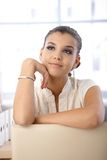 Beautiful daydreaming girl Stock Image