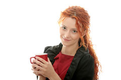 Beautiful deaf woman Stock Image