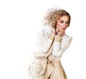 Beautiful  debris woman Royalty Free Stock Images