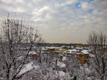 Beautiful december in Bucharest Royalty Free Stock Photo