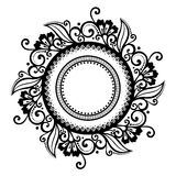 Beautiful Deco Floral Circle (Vector) Stock Images