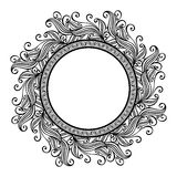 Beautiful Deco Floral Circle (Vector) Stock Photography