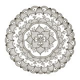 Beautiful Deco Floral Mandala. Vector Round Ornament Pattern Stock Photography