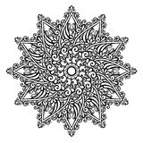 Beautiful Deco Mandala (Vector). Patterned design Royalty Free Stock Photos