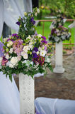 Beautiful decor of flowers at the wedding ceremony Royalty Free Stock Photos