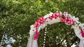 Beautiful decor for the wedding ceremony stock video footage