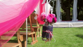 Beautiful decor for the wedding ceremony stock video