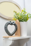 Beautiful decor on a white shelf in the room Royalty Free Stock Photos
