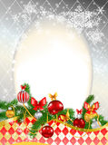 Beautiful decorated Christmas background Royalty Free Stock Photos