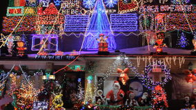 Beautiful Decorated Christmas House in Toronto. The Biggest and the most Beautiful Decorated Christmas House in Toronto stock footage