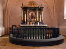 Beautiful decorated church altar Royalty Free Stock Images
