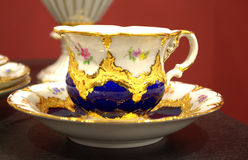 Beautiful decorated coffee cup Royalty Free Stock Image