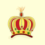 Beautiful decorated crown. Royalty Free Stock Photography