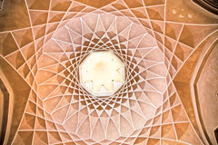 Beautiful decorated Dome of  Dowlat Abad  Palace , Yazd, Iran Stock Images