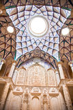 Beautiful decorated Dome of  Khan-e Borujerdi Royalty Free Stock Photography