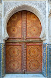Beautiful decorated door in Morocco Stock Photography