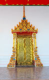 Beautiful decorated door of Thailand temple Royalty Free Stock Photography