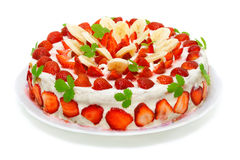 Beautiful decorated fruit cake Royalty Free Stock Image