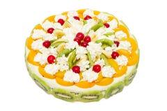Beautiful decorated fruit cake Royalty Free Stock Photography